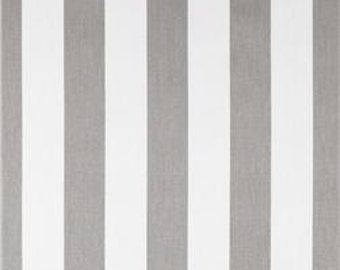 """Two  96"""" x 50""""  Custom  LINED Curtain Panels - Rod Pockets White and Grey Stripes"""