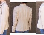 Bob Mackie blazer jacket ivory size 10 1980s Cher-wear