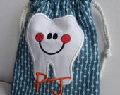 Personalized tooth fairy pouch (fabric of your choice)