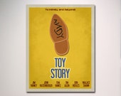 Toy Story Inspired  Minimalist Movie Poster / Kids Room Poster / Play Room Decor
