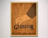 Gladiator Minimalist Movie Poster / Movie Theater Poster / Movie Room Art