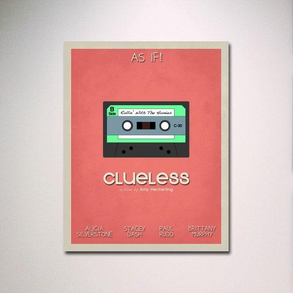 Clueless Inspired  Minimalist Movie Poster