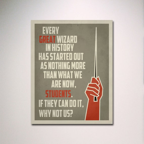 Minimalist Classroom History : Harry potter poster inspirational classroom