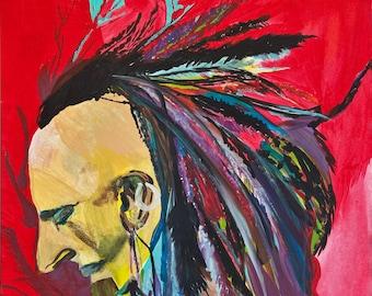 "print ""Mohawk"" painting"