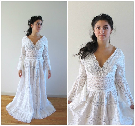 lace mexican wedding dress