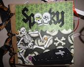 SPOOKY HALLOWEEN Scrapbook Album Premade Paperbag