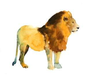 LION by DIMDImini 7x5inch Print