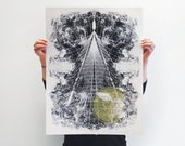 Kelvin Wake Pattern Screen Print Poster (Limited Edition)