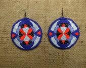 Geometric Shine Embroidered Earrings