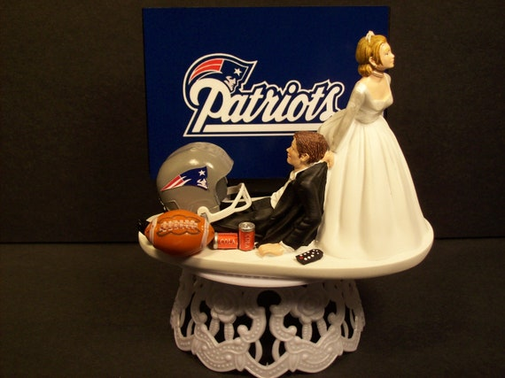 Patriots New England Football Wedding Cake Topper By Mikeg1968