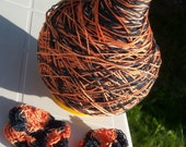 Crochet Cotton - Size 10 - Hand Dyed - Halloween Night - Small Project Size - 10, 25, 50, 75 or 100 yards