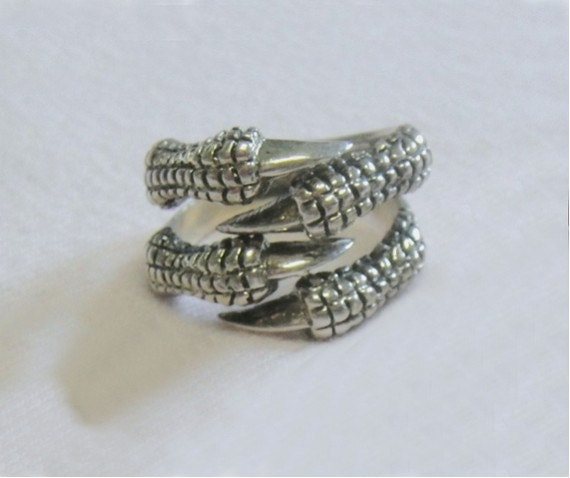 Men's Sterling Silver Ring - Claws - Vintage