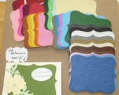 38 Embossed Top Note Shapes from Stampin Up Die - Die Cut pieces made from Rainbow Cardstock