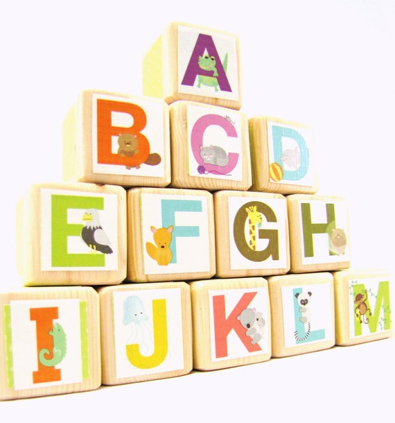 alphabet blocks wood toy abc 39 s educational toddler toy baby shower