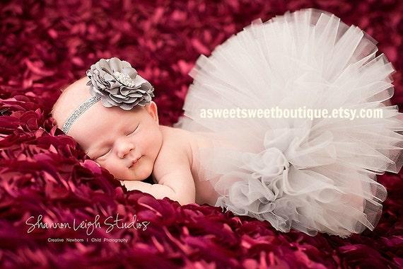 Vintage Tutu Gray Tutu Sweet Vintage Gray Sparkle Tutu Set Newborn Tutu With Matching Vintage Style Headband Stunning Newborn Photo Prop