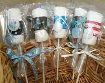Diaper Lollipops for a baby boy  - an adorable baby shower gift, Available Now