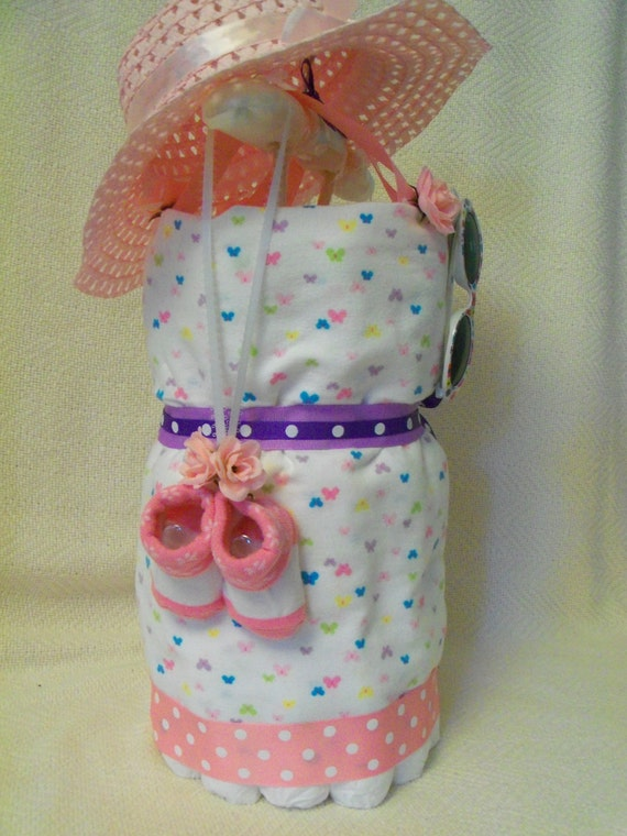 Baby Girl Diaper Dress an adorable baby shower by SquirmyWorms
