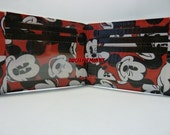 hand made duct tape wallet with mickey mouse all over it