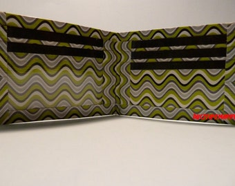 handmade duct tape wallet with multi color waves