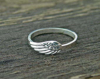 Angel Ring, Angel wing ring, silver ring, ANGEL Jewelry, angel rings, wing jewelry, angel wing, pray ring, jewelry angel, feather ring