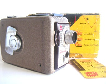 Vintage Brownie Movie Camera 8mm, Model 2 With f/2.7 Lens. Kodak Product,Movies,Films