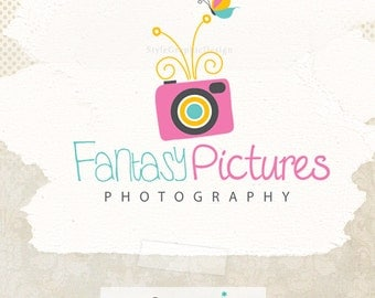 Colorful photography logo design business branding ooak logo for photographers
