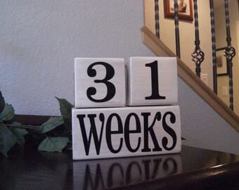 Personalized Perpetual Countdown Blocks, Great for Photographs, Pregnancy, Military, Weddings, Teachers, Birthdays, Pregnancy