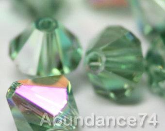 Limited Edition 24pcs Swarovski Crystal Bicone 5301 Beads 6mm  Erinite Transmission
