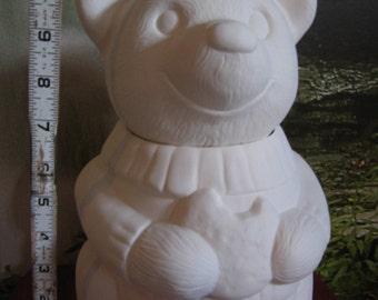 Honey Bear, Bear Cookie Jar, Vintage Cookie Jar, Winnie the Pooh, Pooh Bear, Ceramic Cookie Jar,Ready to paint, u-paint,Ceramic bisque