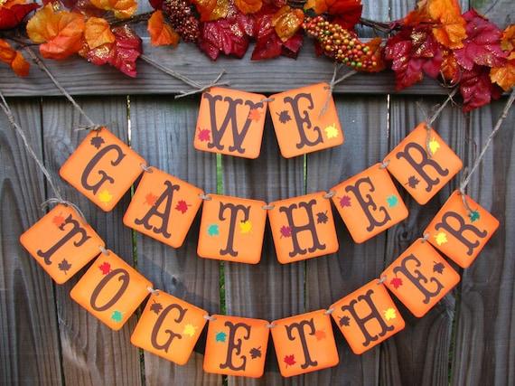 Decorating Ideas > Items Similar To Thanksgiving Decor Home Decor Garland  ~ 070224_Thanksgiving Decorations On Etsy