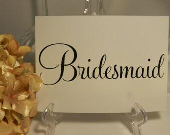 Wedding Reception - Bridesmaid / Groomsmen