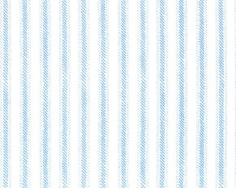 Cape Ann Fabric Collection by Oliver S Blue and White Stripe 11188-25 - 1 Yard
