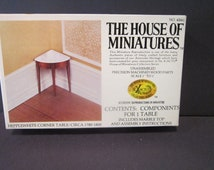 Hepplewhite Corner 1780-1800 Table House of Miniatures Xacto craft kit no 40061  Doll furniture kit