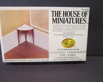 Corner table Hepplewhite  House of Miniatures  no 40061 craft supply Doll furniture kit
