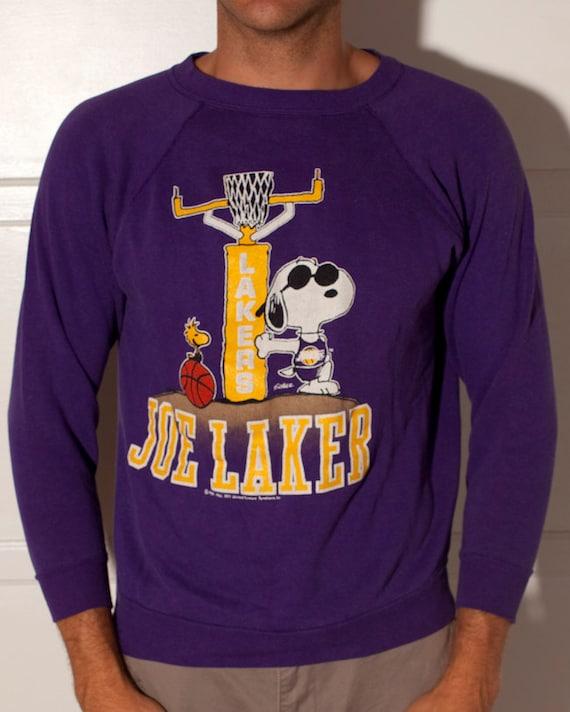 Incredible Vintage Lakers Sweatshirt - Snoopy JOE LAKER
