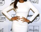 Celebrity Mini White  Dress as seen on Jennifer Hudson