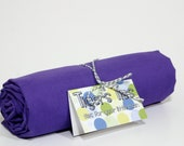 Flat or Fitted Crib Sheet / Toddler Bed Sheet - Purple