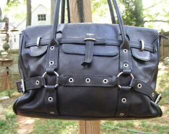 Black Leather Marco Avan Vintage Bag