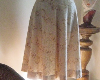 Vintage Skirt 1950s Embroidery California Size Medium