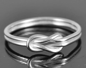 Infinity Ring, Sterling Silver Ring, Bridesmaid Gift, graduation gift, bridal shower gift, wedding gift, teacher gift, idea, Sisters Ring