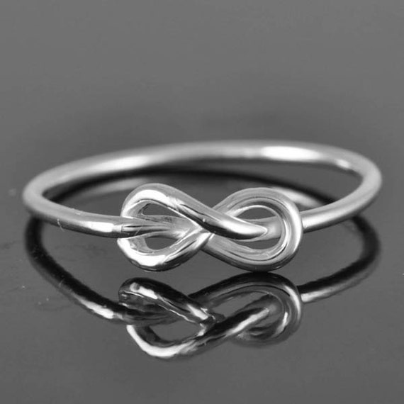 infinity ring knot best friend promisepersonalized by