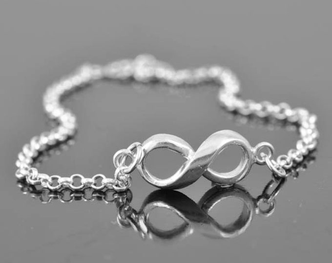 Anklet, infinity anklet, sterling silver anklet, infinity bracelet, infinity jewelry, 925, silver anklet, Bridesmaid Gift, Bridal jewelry