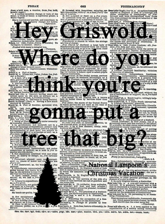 Christmas Vacation Rant Quote: Christmas Vacation Quotes Upcycled 1960 By Marais0Handmade