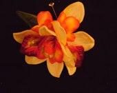Orchid Flower Hair Clip