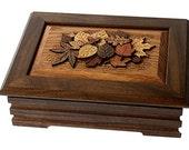 Jewelry box made in solid Black Walnut.
