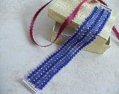 Beaded Wide cuff bracelet, Handmade Bead Woven jewelry, Bead Weaving, casual yet dressy chevron pattern