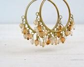 Vintage Hoops Earrings, Boho chic Autumn jewelry, Daily jewelry, Hippie fashion, Large hoops earrings, 70s fashion