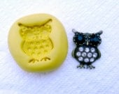 MOLD of jewelry pendant owl food quality flexible silicone mold for any crafts, jewelry making, FIMO, Sculpey, wax, soap..