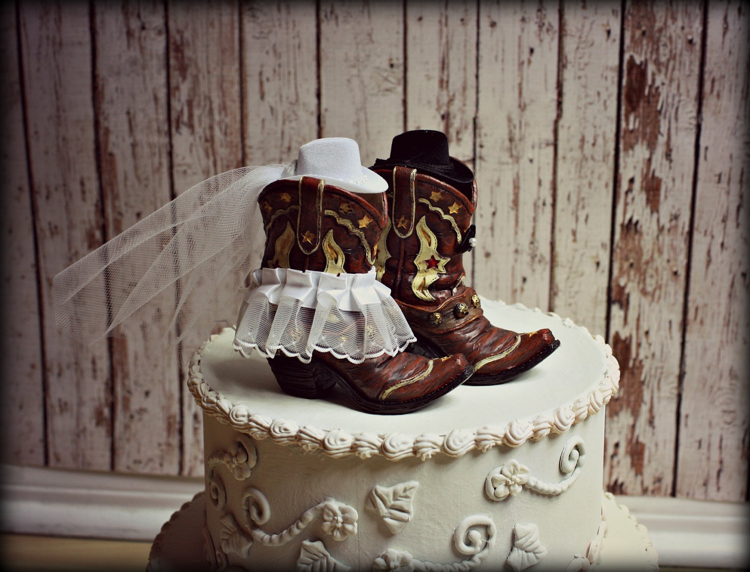 cowboy themed wedding cake toppers cowboy boots wedding cake topper western by morganthecreator 13026