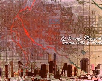 Denver Skyline City Map